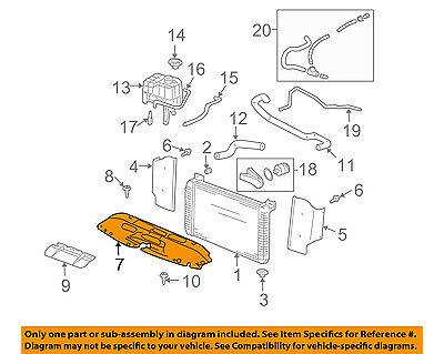 GM OEM Radiator-Upper Panel 15809932