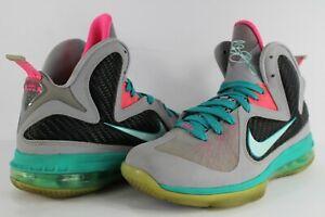 d12960725de Nike Lebron IX 9 South Beach Wolf Grey Mint Candy New Green Pink ...
