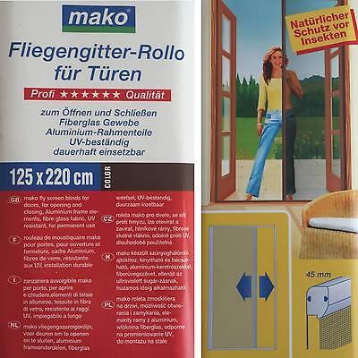 Abverkauf Mako 888 19 Fliegengitter Rollo 125x220 cm Rahmenfarbe braun