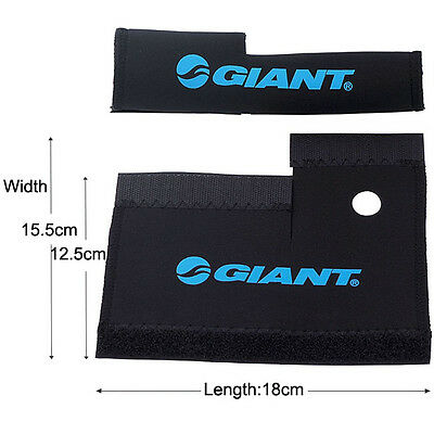 2x Cycling Bike Bicycle Front Fork Protector Pad Wrap Cover Set Magic Tape Good