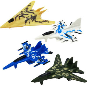 Plastic-Air-Bus-Model-Kids-Children-Pull-Line-Helicopter-Camo-Plane-Toy-Gift-PN