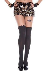 Sexy-Black-Opaque-Faux-Thigh-Hi-Stocking-Rose-Tattoo-Style-Design-Tights-P7101