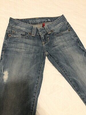 Women's 24 Boot Cut,stretch,distressed,medium Wash Analytical Guess Jeans Daredevil