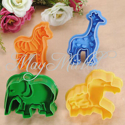 New Fondant Animal Cake Cutter Cookie Mold Sugarcraft Plunger Decorating Mould H