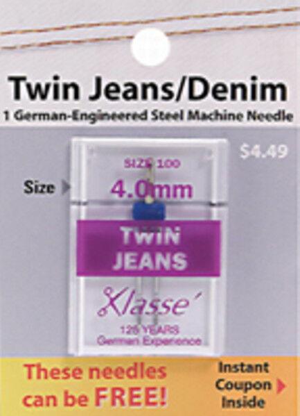 Klasse Twin Jeans/Denim Needle Size 4.0/100 #A5-15340