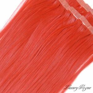 40pcs-20-Hi-Temp-SYN-3M-Tape-in-Hair-Extensions-RED-PARTY-Colors-by-Lux-Vogue