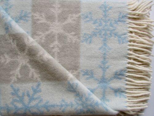 Couverture Couverture wollplaid Couverture Pour Canapé Canapé Couverture 135x200 100/% Laine Merino