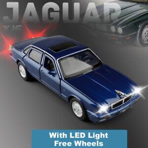 1-32-Jaguar-XJ6-Aleacion-Metal-Diecast-Modelo-Coche-De-Juguete-Regalos-de-coleccion-de-luz-y-sonido