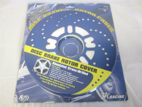 3A Racing Disc Brake Rotor Covers Simulator Cross Drilled Universal 4 or 5 Bolt