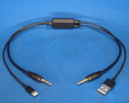 BMW Mini Cooper AUX IN CABLE 8-P i PAD AIR iPHONE 6 5 iPOD USB 3.5MM 61122354478