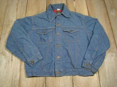 DUCK FLANNEL LINED USA NEW MENS PURINA CATTLE CHOW Denim Jacket L Large 10 oz