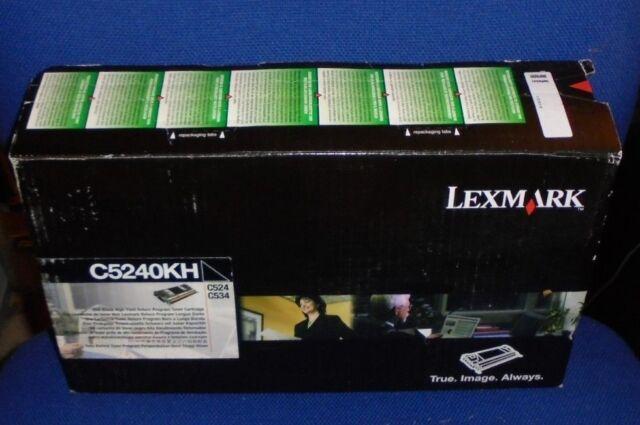 Genuine Lexmark C5240kH Black High Yield Toner for C524 C534 (VAT INCL)