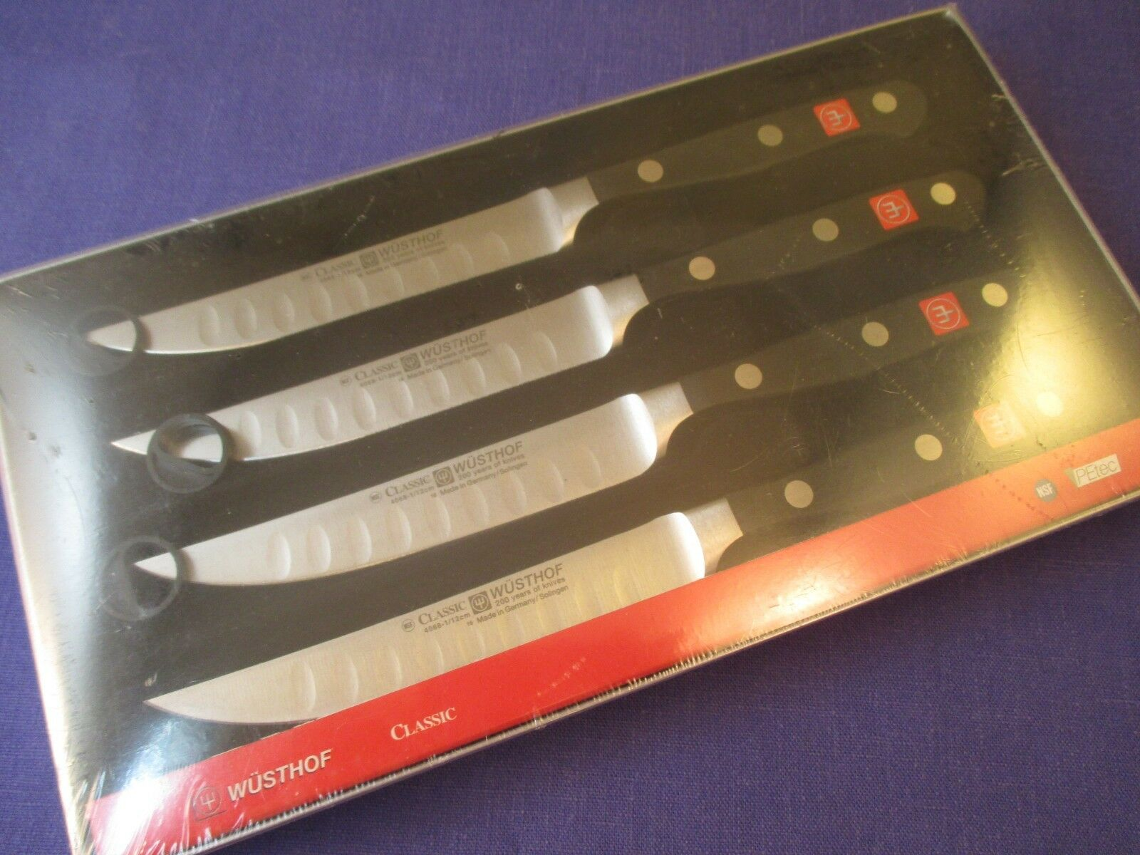 Wusthof Classic 4 piece Hollow Ground Steak Knife Set - 4 X 4068-1 12, NIB