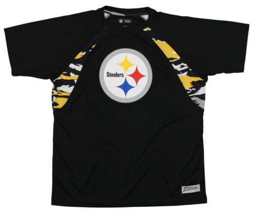 Zubaz NFL Men/'s Pittsburgh Steelers Camo Solid T-Shirt