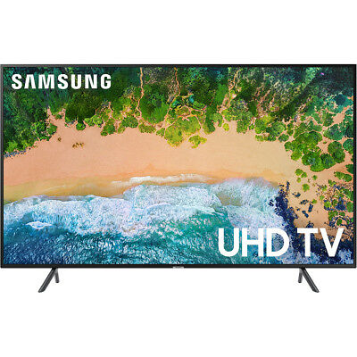 """Samsung UN43NU7100 Flat 43"""" 4K UHD 7 Series Smart LED TV with HDR in Black"""