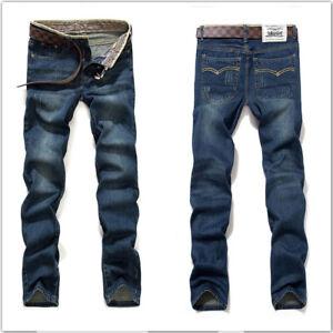 New Hot Mens Stylish Fashion Designer Slim Fit Jeans Trousers Pants 0408
