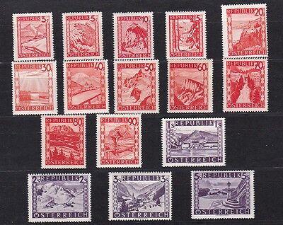 """Österreich 1947 """"rote Landschaft"""" Landschaftsbilder Farbänderungen Ank 847-862 More Discounts Surprises Österreich Österreich Ab 1945"""