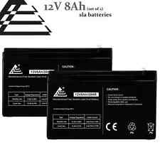 Set of 2- 12v 8Ah replaces 7Ah 7.5Ah Sealed Lead Acid Battery for FIOS, UPS, APC