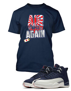 3544f2d8abd Tee Shirt to Match Air Jordan 12 International Flight Shoe Air We Go ...