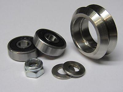 Metal Dual V Wheel Kit - 20mm aluminum extrusion linear rail, CNC, 3D printers