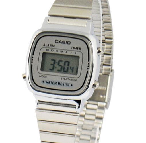Casio Women's Digital Quartz Stainless Steel Watch LA670WA-7