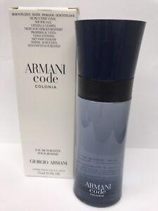 c997ae5f5 Armani Code Colonia By Giorgio Armani EDT 2.5 oz. Brand New In Box ...