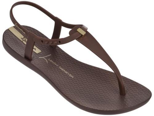 Ipanema Women`s Flip Flops Premium Lenny Desire Coffee Brazilian Sandal NWT
