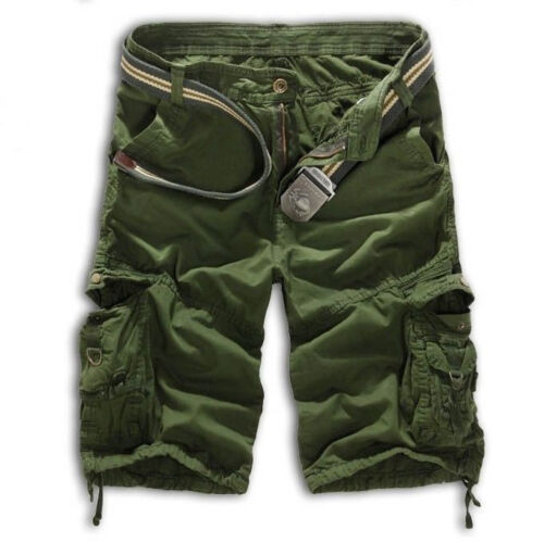Herren Shorts Bermuda Camo Kurz Hose Sporthose Jogging Cargohose Kampfhose Gym