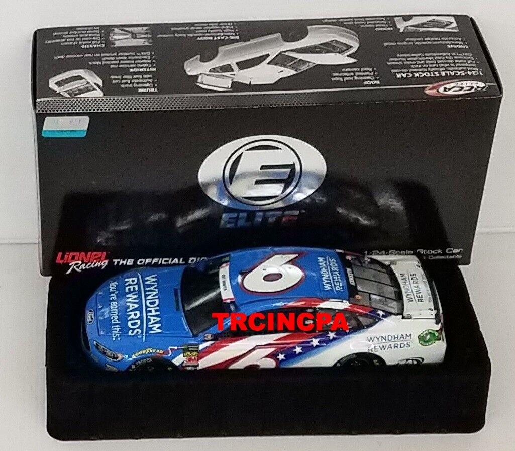 Matt Kenseth 2018 Lionel  6 Wyndham Rewards Patriotic ELITE Ford Fusion 1 24