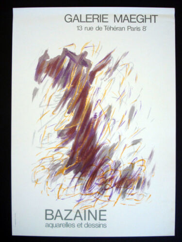 Jean Rene Bazaine Vintage Galerie Maeght Lithograph Poster inv1027