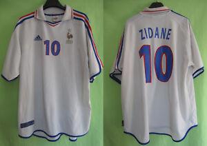 Détails sur Maillot Equipe de France Euro 2000 Zidane #10 Adidas exterieur Vintage XXL