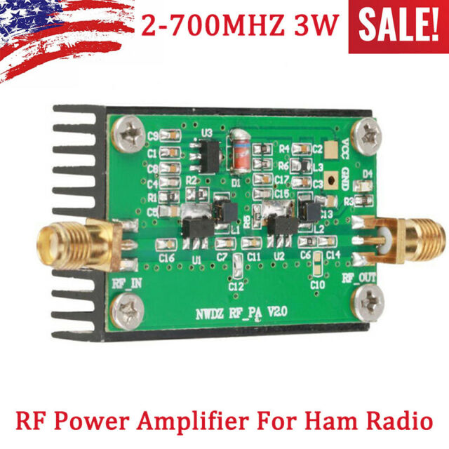 2MHZ-700MHZ 3W HF VHF UHF FM transmitter RF Power Amplifier For Ham Radio US