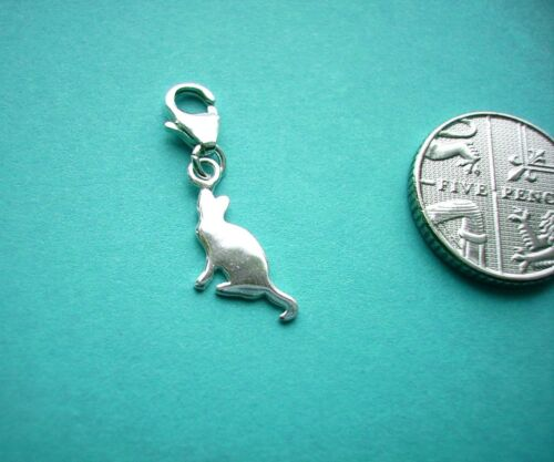 5 or 10 pcs x 8mm 925 Sterling Silver Charm Attachments Lobster Trigger Clasp 1