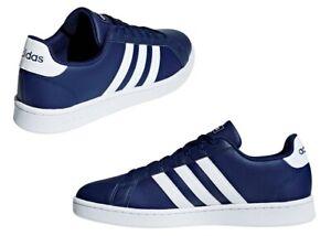 Adidas-GRAND-COURT-F36404-Blu-Scarpe-da-Ginnastica-Uomo-Comode-e-Leggere