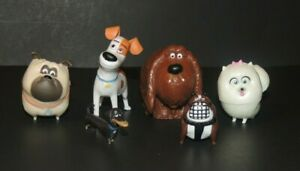 Lot Of 6 The Secret Life Of Pets Illumination SML Dog Puppy Action Figures