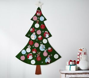 Nwt Pottery Barn Kids Christmas Tree Shaped Countdown