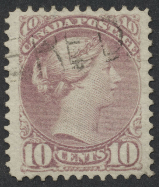 Canada #40 10c Small Queen, Rose Lilac Shade, Perf 12, VF Used
