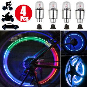 LED Lamp Valve Stem Light Bicycle Wheel Tire Cap Flash Tyre Colorful Wheel Light
