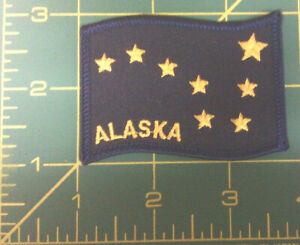 Embroidered-Alaska-Patch-Alaska-State-Flag-iron-on-Ships-worldwide