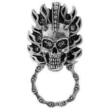 Biker Chopper Mohawk Punk Skull Totenkopf Pin Halter Anstecker Brillenhalter