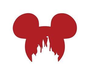 Image Is Loading Mickey Ears Disney Castle Disneyland Logo Vinyl Decal