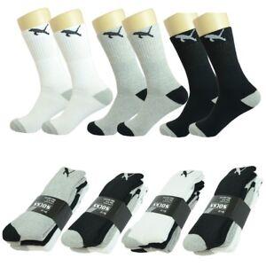 Wholesale Lot Solid Gray Men/'s Athletic Crew Sport Socks Cotton Size 9-11 10-13