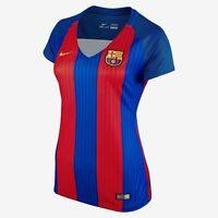 Nike Barcelona Season 2016 - 2017 Womens Soccer Home Jersey Red - Royal