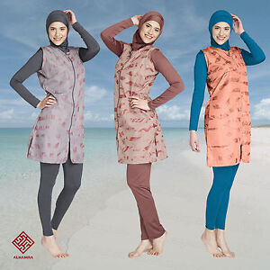 AlHamra-Full-Cover-Burkini-Modest-Women-Swimsuit-Swimwear-Muslim-Islamic-Clothes