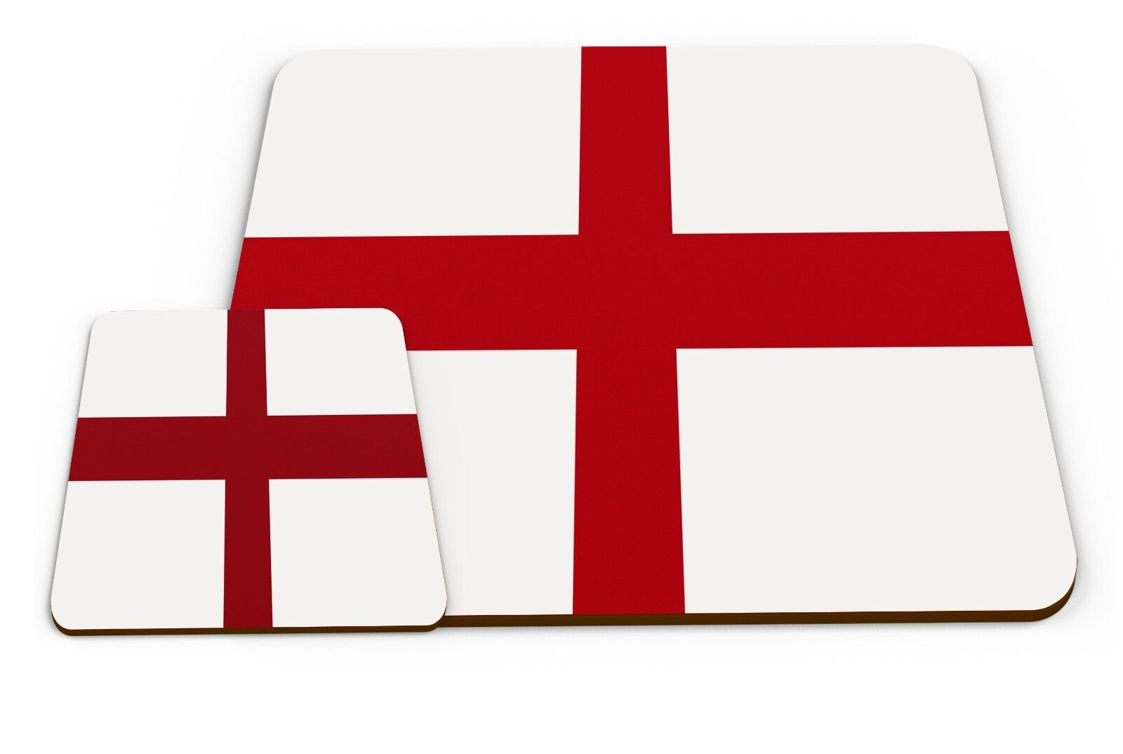 Set Of Country Flags - ENGLAND Glossy Placemat & Mug Coaster Variation