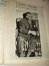 JOSE ITURBI clipping ritaglio articolo foto fotografia 1950