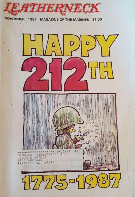 The Leatherneck Magazine of the US Marines November, 1987 issue, Volume LXX, #11