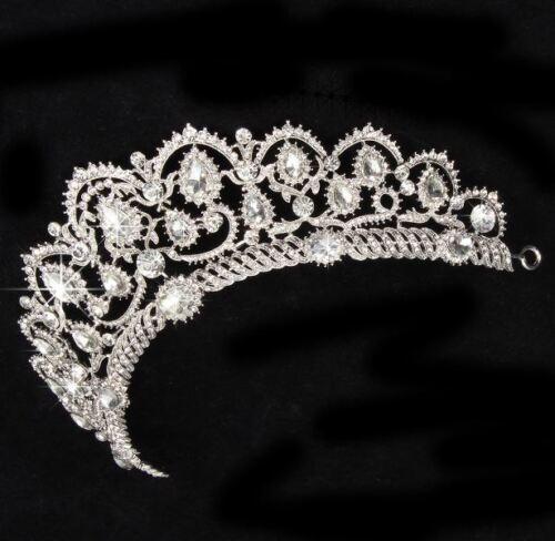 Bridal Princess Rhinestone Crystal Tiara Crown Queen Wedding Party Hair Headband