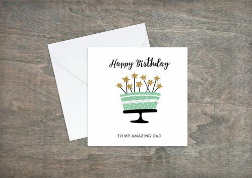Uncle Brother Grandad Dad Son Friend Nephew M05 Birthday Card Personalised