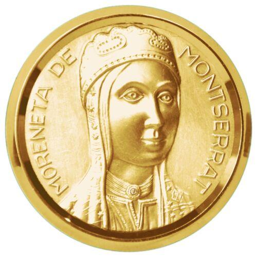 Virgen Negra estimada Señora de Montserrat oro La Moreneta relief 3d medalla